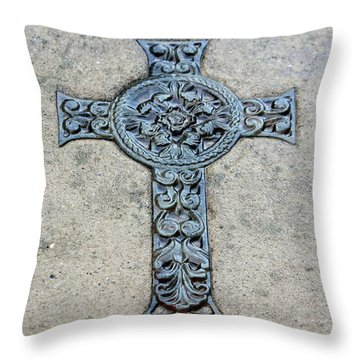 Celtic Cross IIi Throw Pillow by Suzanne Gaff