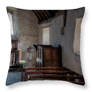 Celynnin Church Throw Pillow by Adrian Evans