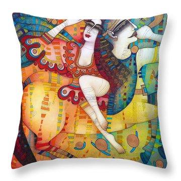 Centaur In Love Throw Pillow by Albena Vatcheva
