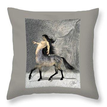 Centaur Throw Pillow by Quim Abella