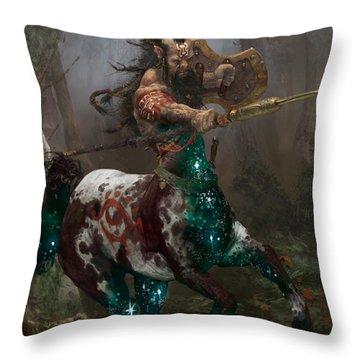 Centaur Token Throw Pillow by Ryan Barger