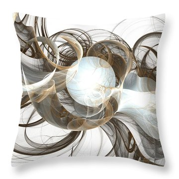 Central Core Throw Pillow by Anastasiya Malakhova