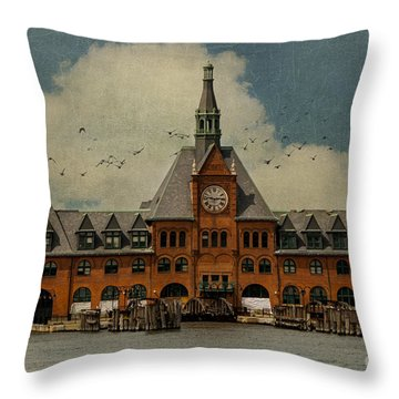 Central Railroad Of New Jersey Throw Pillow by Juli Scalzi