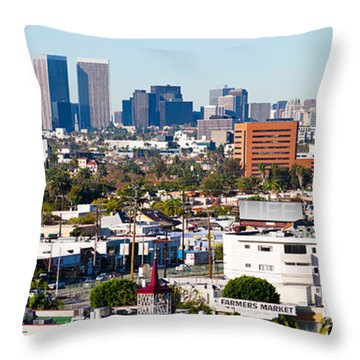 Century City, Beverly Hills, Wilshire Throw Pillow by Panoramic Images