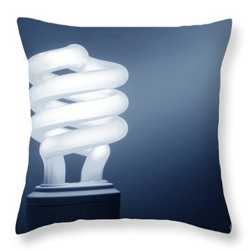 Cfl Blue Throw Pillow by Olivier Le Queinec
