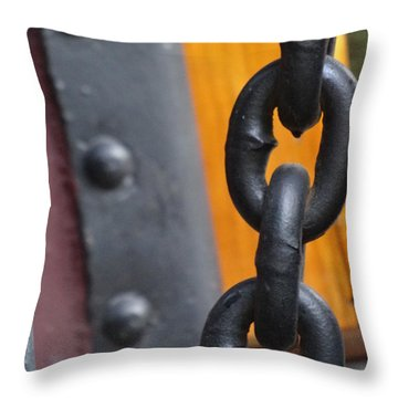 Chain And Rivets Throw Pillow by Lyric Lucas