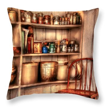 Chair - Chair In The Corner Throw Pillow by Mike Savad