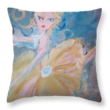 Changement Ballet Throw Pillow by Judith Desrosiers