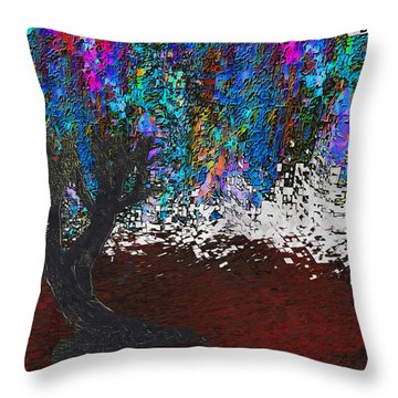 Changing Tree Throw Pillow by Jack Zulli