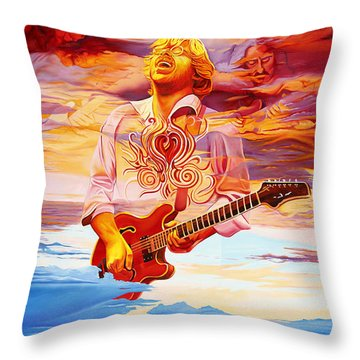 Channeling The Cosmic Goo At The Gorge Throw Pillow by Joshua Morton