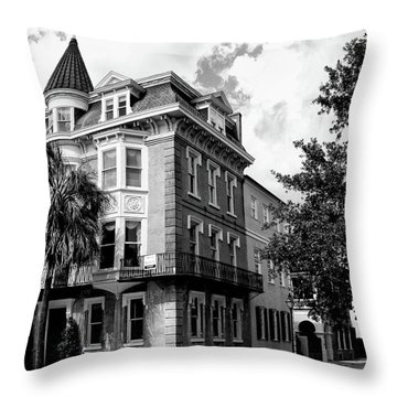 Charleston Corner Charleston Sc Throw Pillow by William Dey