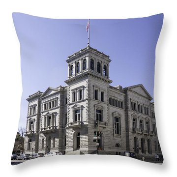 Charleston Post Office And Courthouse Throw Pillow by Lynn Palmer