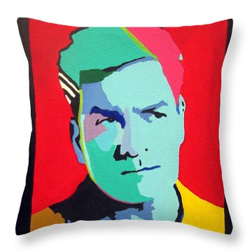 Charlie Sheen Winning Throw Pillow by Venus