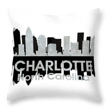 Charlotte Nc 4 Throw Pillow by Angelina Vick