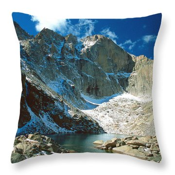 Chasm Lake Throw Pillow by Eric Glaser