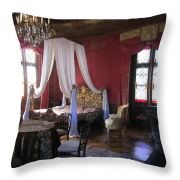 Throw Pillow featuring the photograph Chateau De Cormatin by Travel Pics