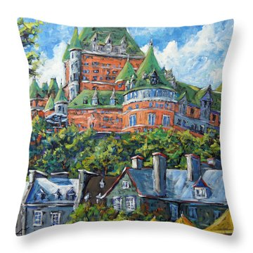 Chateau Frontenac By Prankearts Throw Pillow by Richard T Pranke
