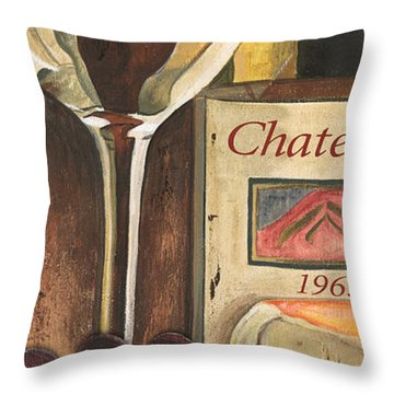 Chateux 1965 Throw Pillow by Debbie DeWitt