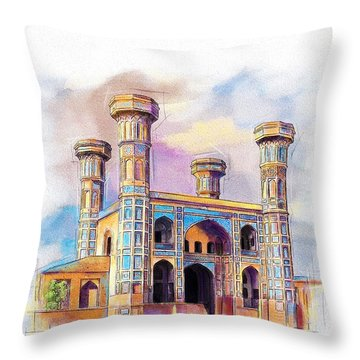 Chauburji Lahore Throw Pillow by Catf