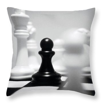 Check Throw Pillow by Thomas Woolworth
