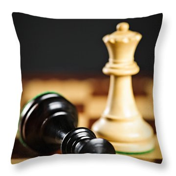 Checkmate In Chess Throw Pillow by Elena Elisseeva