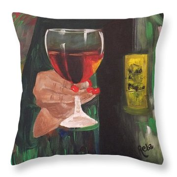 Cheers Throw Pillow by Reba Baptist