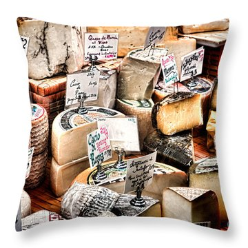 Cheese Shop Throw Pillow by Olivier Le Queinec