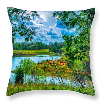 Cherokee Lake Tennessee  Throw Pillow by Bob and Nadine Johnston