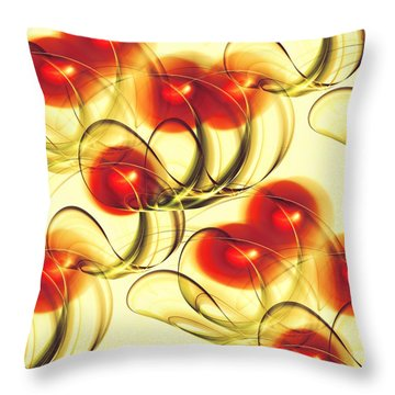 Cherry Jelly Throw Pillow by Anastasiya Malakhova