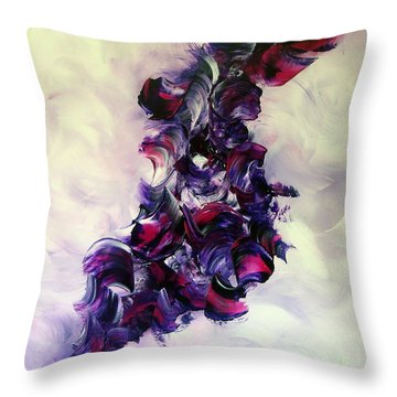 Cherry Rock'n Roll Throw Pillow by Isabelle Vobmann