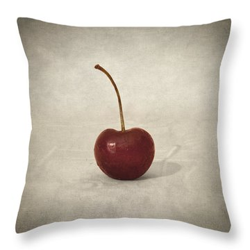 Cherry Throw Pillow by Taylan Soyturk