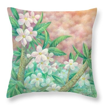 Cherryblossoms Throw Pillow by Charity Goodwin