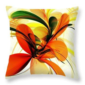 Chervona Ruta Throw Pillow by Anastasiya Malakhova