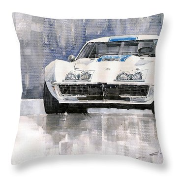 Chevrolet Corvette C3 Throw Pillow by Yuriy  Shevchuk
