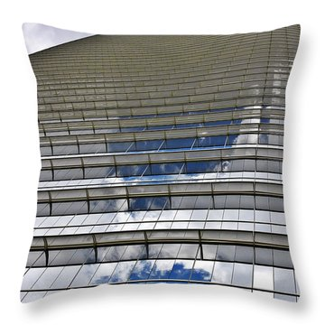 Chevron Corporation Houston Tx Throw Pillow by Christine Till