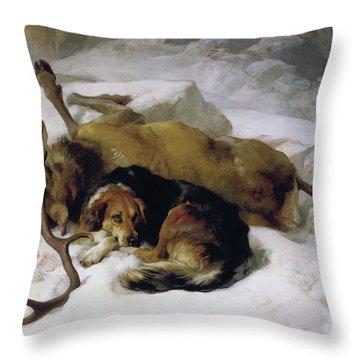 Chevy Throw Pillow by Sir Edwin Landseer