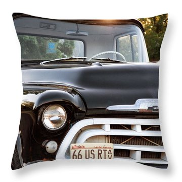Chevy Truck Throw Pillow by John Rizzuto