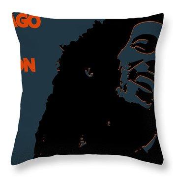 Chicago Bears Ya Mon Throw Pillow by Joe Hamilton