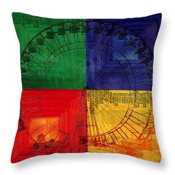 Chicago City Collage 3 Throw Pillow by Corporate Art Task Force