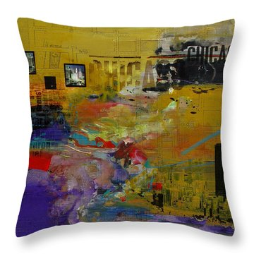 Chicago Collage 2 Throw Pillow by Corporate Art Task Force