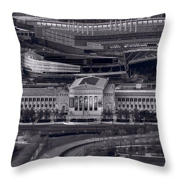 Chicago Icons Bw Throw Pillow by Steve Gadomski