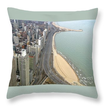 Chicago Lakeshore Throw Pillow by Ann Horn