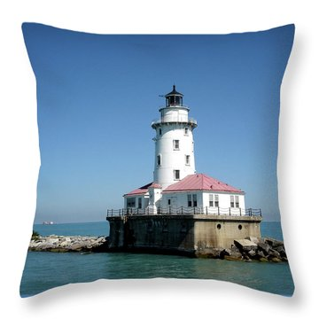 Chicago Lighthouse Throw Pillow by Julie Palencia