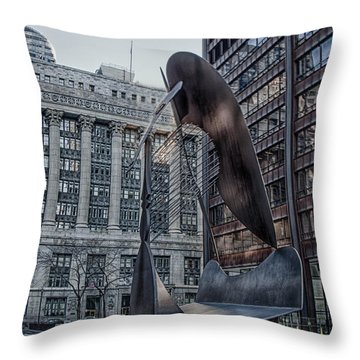 Chicago Picasso Throw Pillow by Mike Burgquist