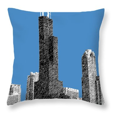 Chicago Sears Tower - Slate Throw Pillow by DB Artist