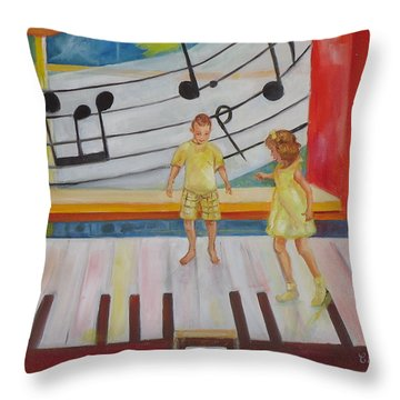 Childs Play Throw Pillow by Charme Curtin