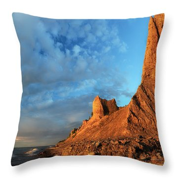 Chimney Bluffs 2 Throw Pillow by Mark Papke