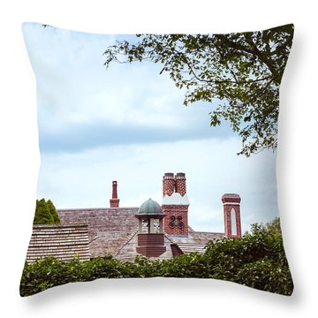 Chimneys Throw Pillow by John M Bailey