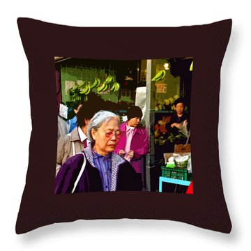 Chinatown Marketplace Throw Pillow by Joseph Coulombe