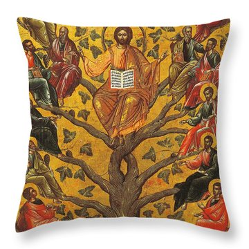 Christ And The Apostles Throw Pillow by Unknown